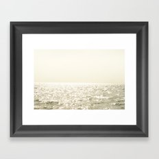 Sea and Sky Ombre Framed Art Print