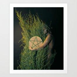 The Daughter of Pentacles Art Print