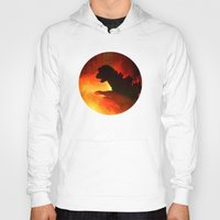 godzilla Hoodies featuring godzilla by avoid peril