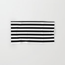 BLACK & WHITE STRIPES - M Hand & Bath Towel