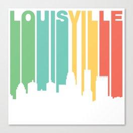 Retro 1970's Style Louisville Kentucky Skyline Canvas Print