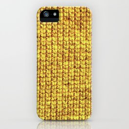 Knitted Yellow iPhone Case