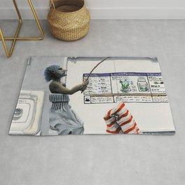 Sock Thief Fishing Criminal Fantasy Art Rug