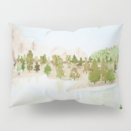 Pines and mountains Pillow Sham