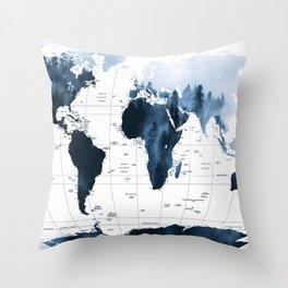 ALLOVER THE WORLD-Woods fog map Throw Pillow