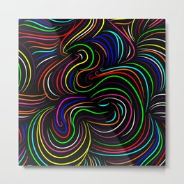 Hair pattern Metal Print