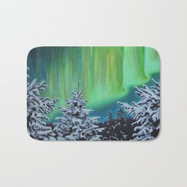 Northern Lights, Algonquin Park Bath Mat