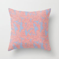 Trailing Curls // Pink & Blue Pastels Throw Pillow