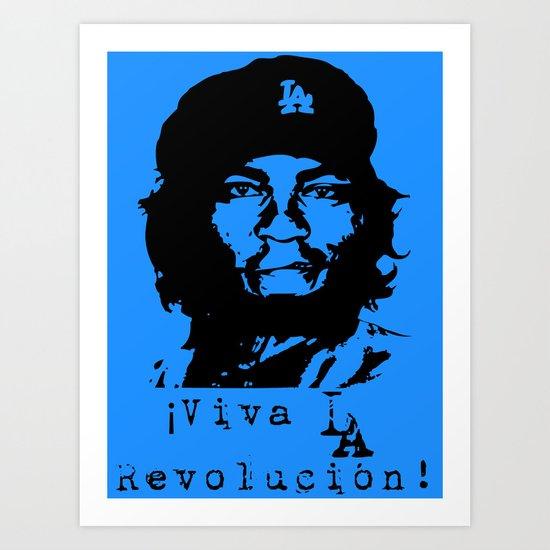 Yasiel Puig - Viva LA Revolucion! Art Print
