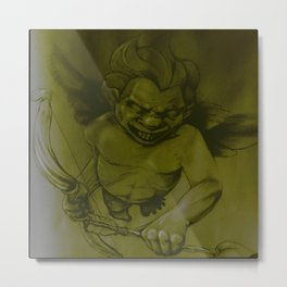 Evil Cupid (Yellow) Metal Print