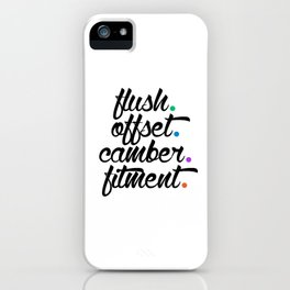 flush offset camber fitment v5 HQvector iPhone Case