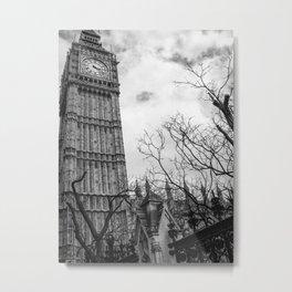 A creepier side of Big Ben  Metal Print