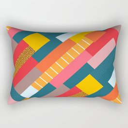 Colorful blocks Rectangular Pillow
