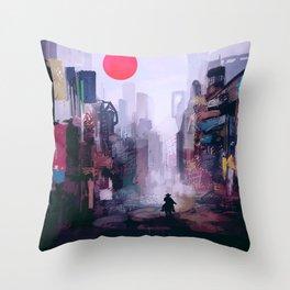 Strange Mornings Throw Pillow
