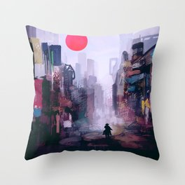 Strange Mornings Throw Pillow