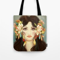 helen Tote Bags featuring Helen of Troy by Maribellum