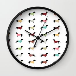 Dachshund - Sweaters #502 Wall Clock