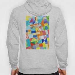 Playful Colorful Architectural Pattern Hoody