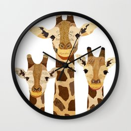Giraffe Collage Wall Clock