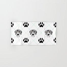 Merle Great Dane Paw Print Pattern Hand & Bath Towel