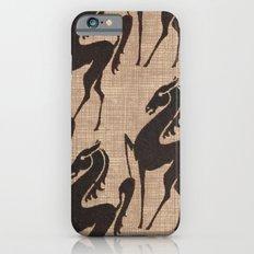 Burlap horses iPhone 6s Slim Case