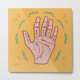 Palm Reading Metaphysical Digital Art Metal Print
