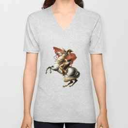 Napoleon Crossing the Alps Unisex V-Neck