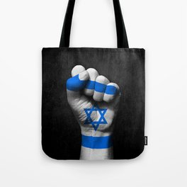 Israeli Flag on a Raised Clenched Fist Tote Bag