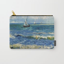 Seascape near Les Saintes-Maries-de-la-Mer by Vincent van Gogh Carry-All Pouch