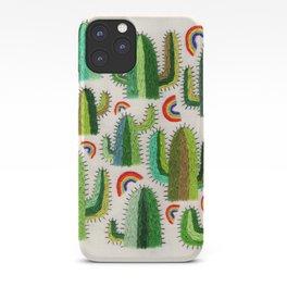 Cacti and Rainbows iPhone Case