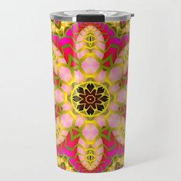 Sweet Happiness Floral Mandala Travel Mug