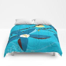 Blue Saucer Magnolia Comforters