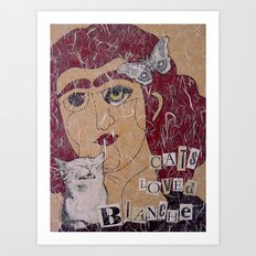 Cats Loved Blanche (Blanche No. 3) Art Print