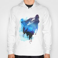 alone Hoodies featuring Alone as a wolf by Robert Farkas