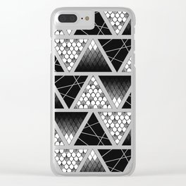 Zentangle Triangles Clear iPhone Case