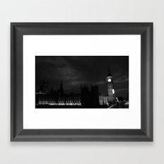 B&W Big Ben  Framed Art Print