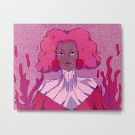Lady Pink Metal Print