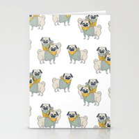 pugs Stationery Cards featuring Pugs by Ann Rubin