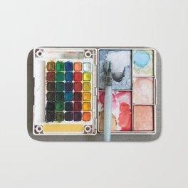 A Sloppy Paintbox is a Happy Paintbox Bath Mat