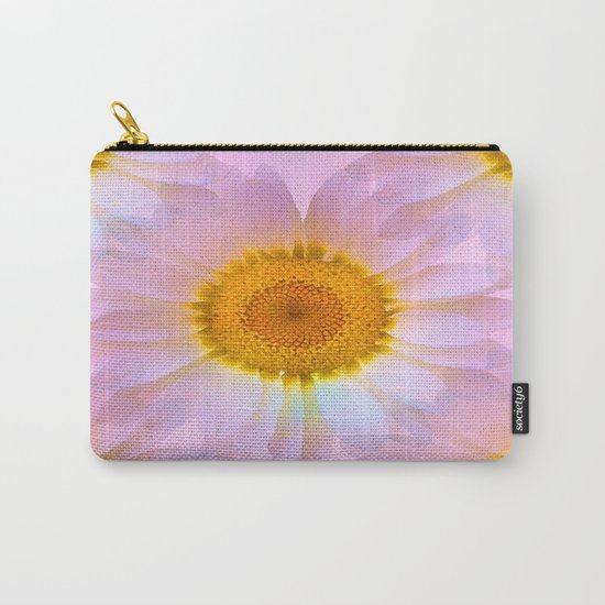 Pink Iridescent Floral Abstract Carry-All Pouch