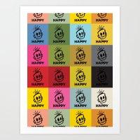 HAPPY SQUARES Art Print