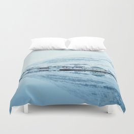 Houses by the water reflect Duvet Cover