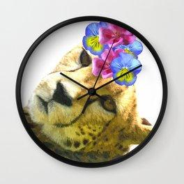 Cute Cheetah Portrait Wall Clock