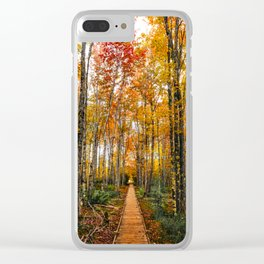 Acadia Autumn Clear iPhone Case