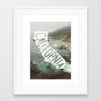 california Framed Art Prints featuring California by cabin supply co