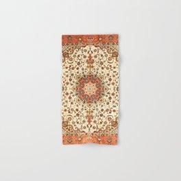 N71 - Orange Antique Heritage Traditional Moroccan Style Mandala Artwork Hand & Bath Towel