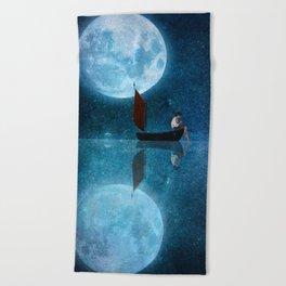 The Moon and Me Beach Towel
