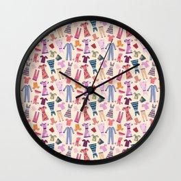 Dress Papercut Pattern - baby Yellow Wall Clock