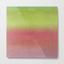 Watermelon Watercolor Ombre Abstract Metal Print