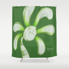 """Jailbird"" Flowerkid Shower Curtain"